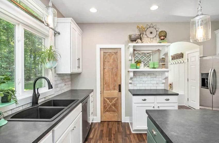Decorative wood kitchen pantry door