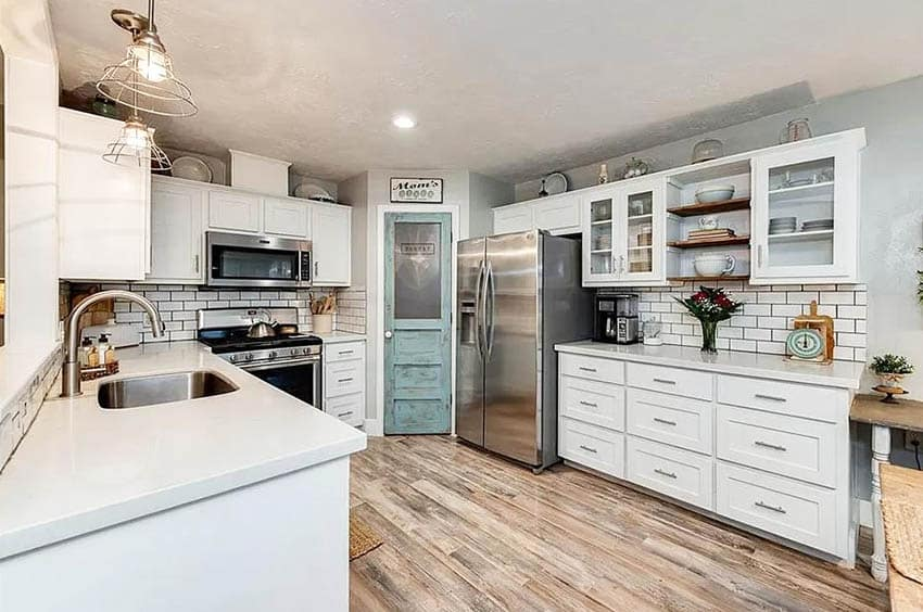 Farmhouse kitchen pantry door