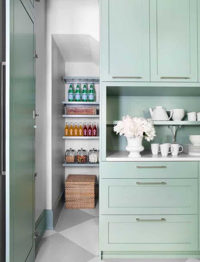 Hidden pantry door