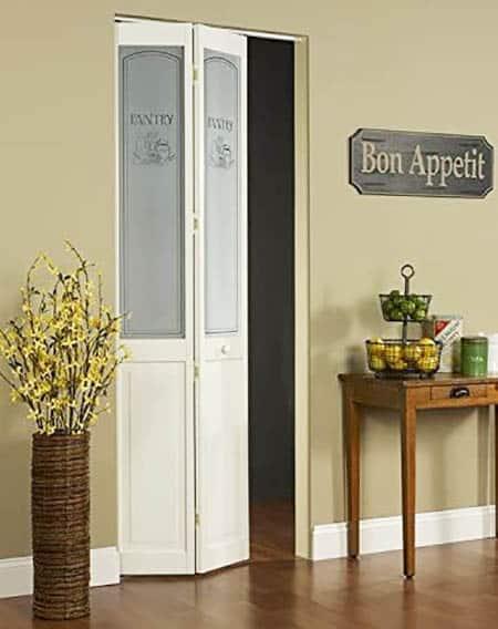 Kitchen bifold pantry door