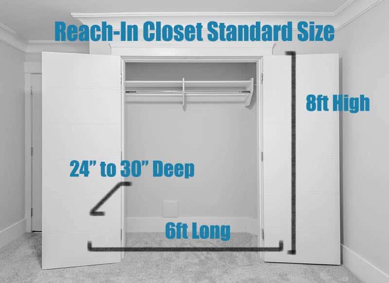 Closet Height Standards Rod Shelf Door Dimensions Designing Idea