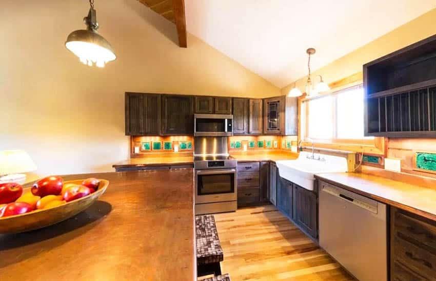 Kitchen copper countertops