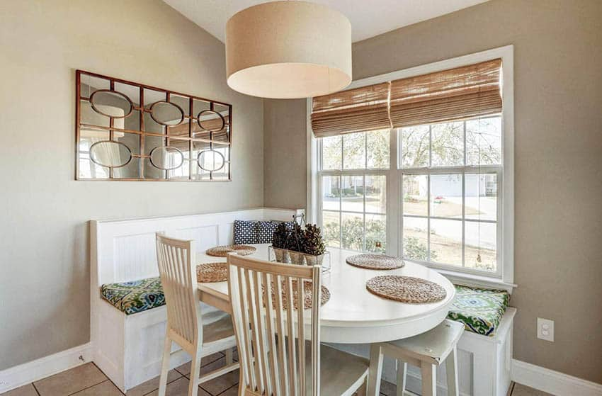 Breakfast nook with built in seating