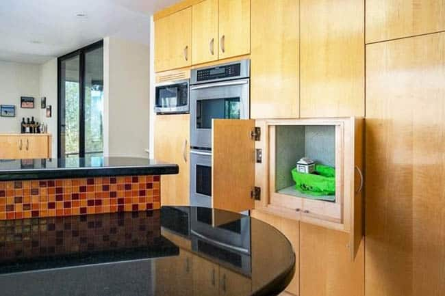 Kitchen with dumbwaiter elevator