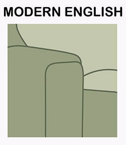 Modern english sofa arm chair style