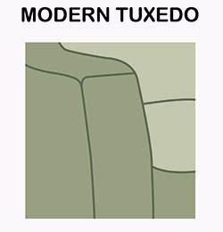 Modern Tuxedo sofa arm style