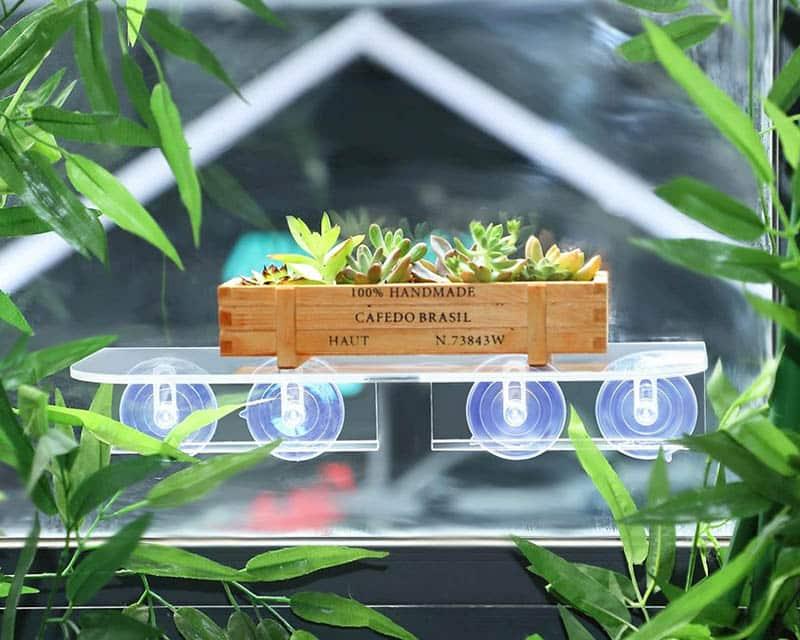 Portable kitchen garden window shelf