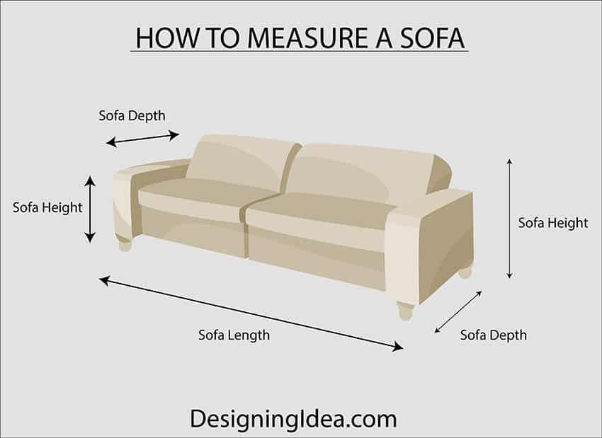 How to measure a sofa