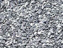 Slate chips gravel