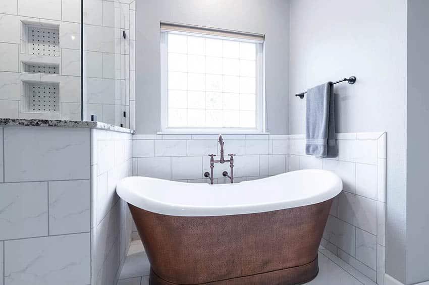 Acrylic faux copper tub