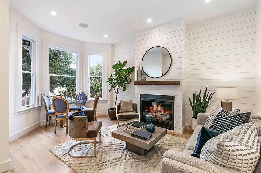 Charming renovated victorian living room