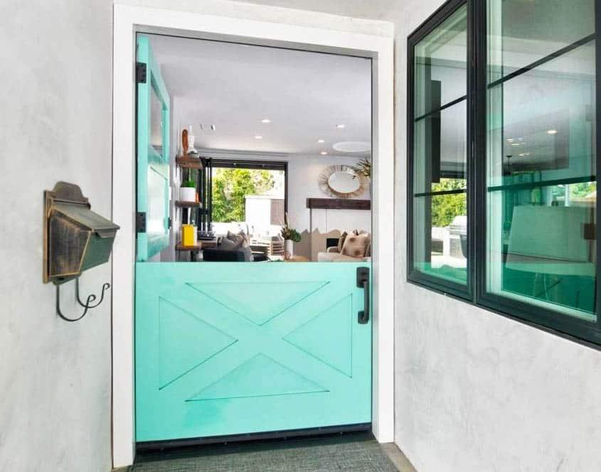 Colorful dutch door