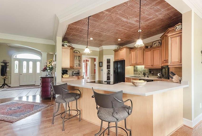 copper-tin-ceiling-kitchen