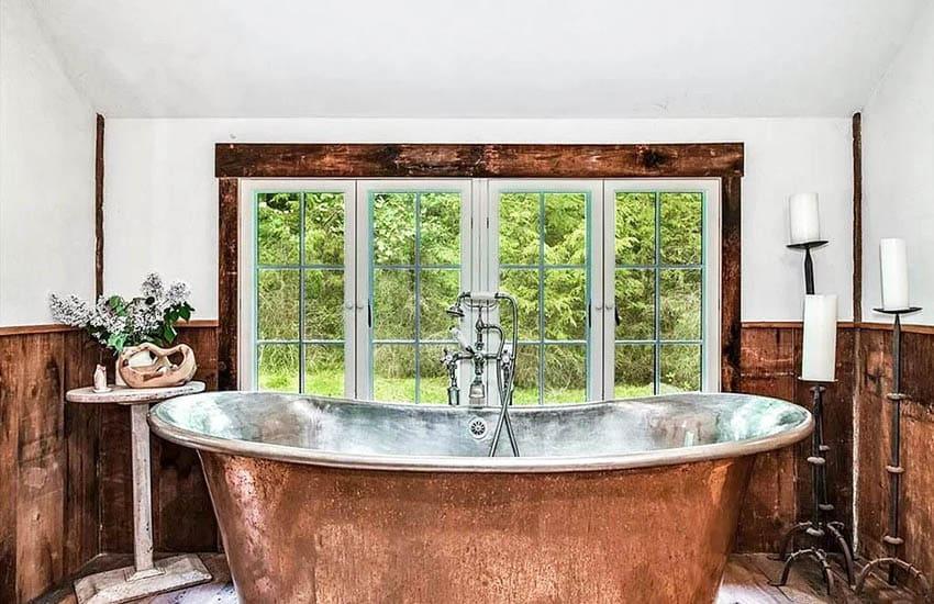 Deep copper tub