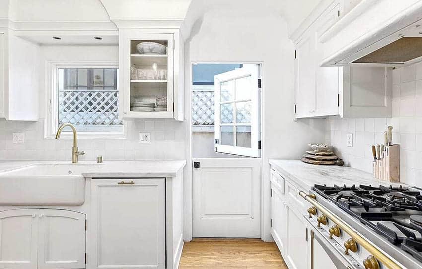 Dutch door in kitchen