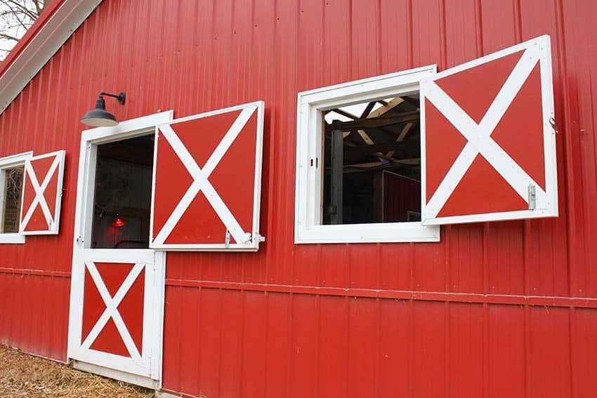Exterior dutch door on barn