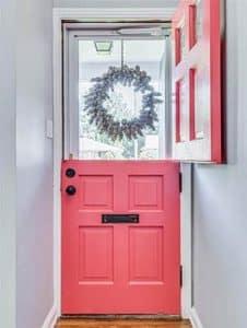 Fiberglass dutch door entryway
