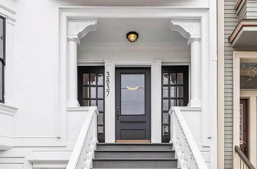 Grand entrance to post victorian house