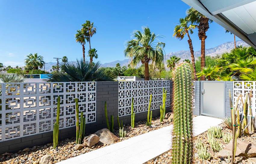 Mid century modern geometric design fence