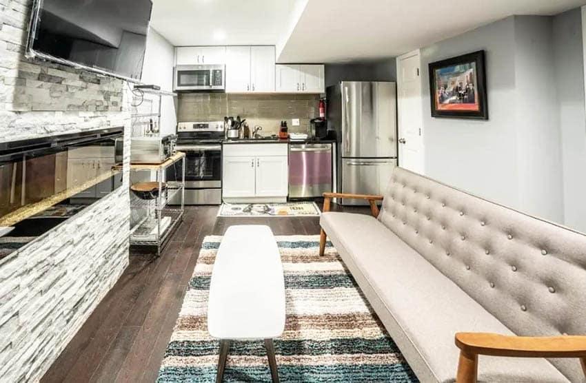 Modern basement in law studio suite