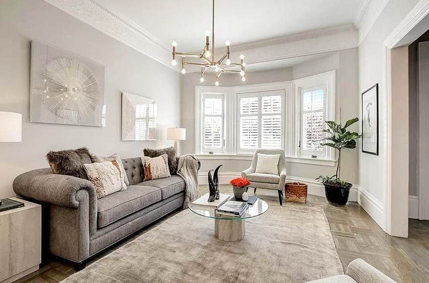 Natural light living room in renovated victorian
