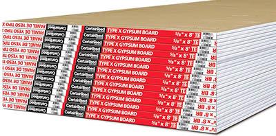 Type x gypsum board