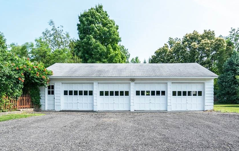 4 car detached garage