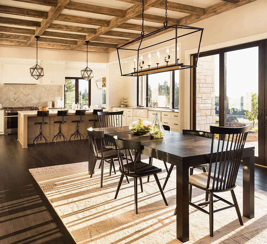 Beautiful dining table off open concept kitchen