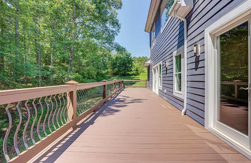 Contemporary composite metal deck railing