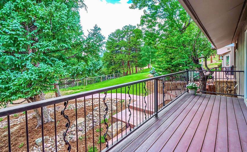 Decorative iron deck railing