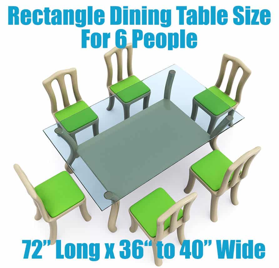 Rectangular dining table size for 6 people