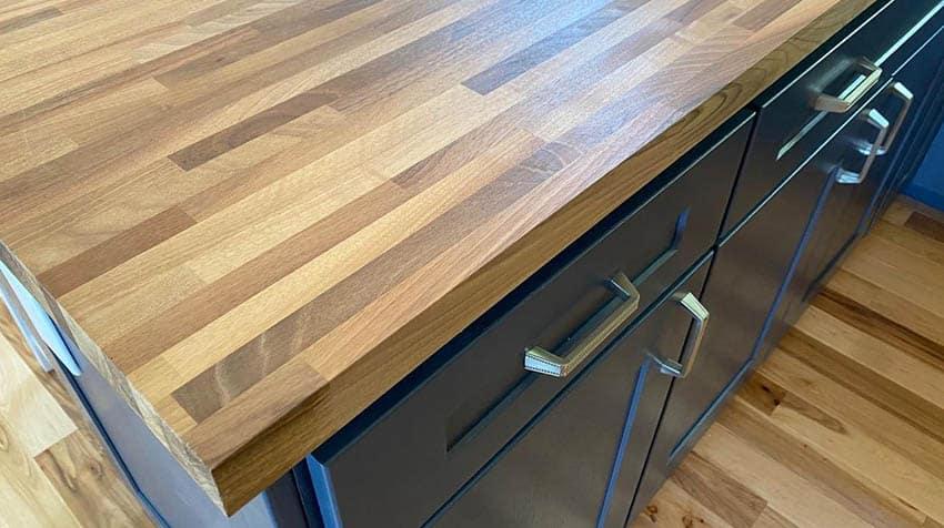 European edge grain walnut countertops