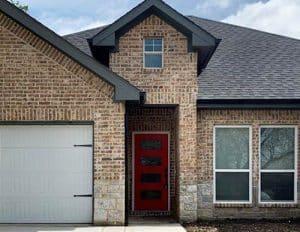 House with brick veneer