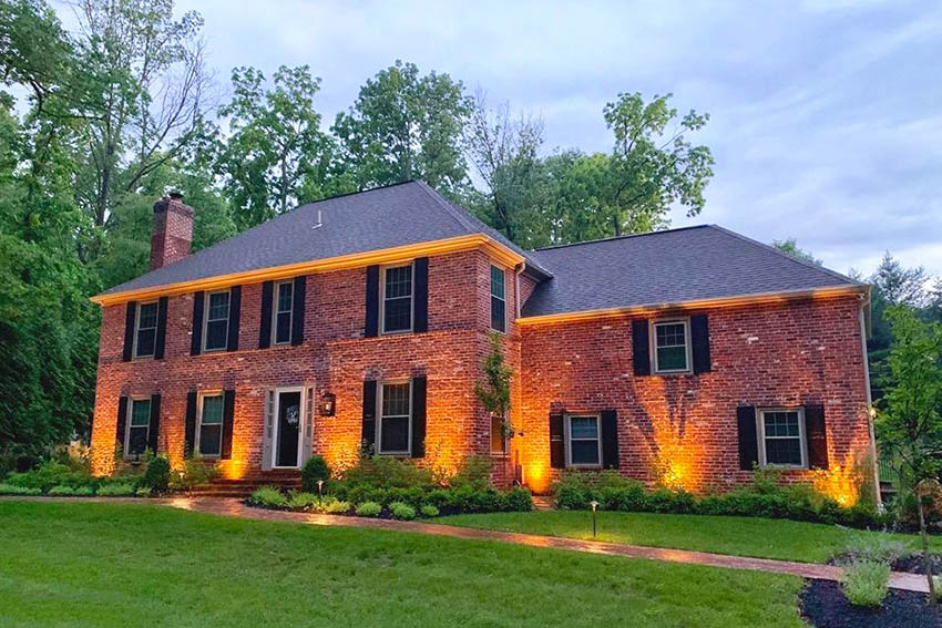House with solid brick exterior