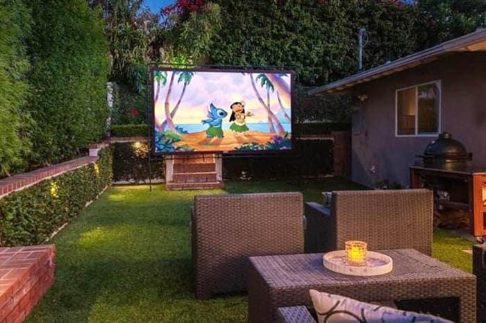 Outdoor tv movie watching area