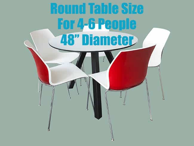 Round table dining size for 4 to 6 people