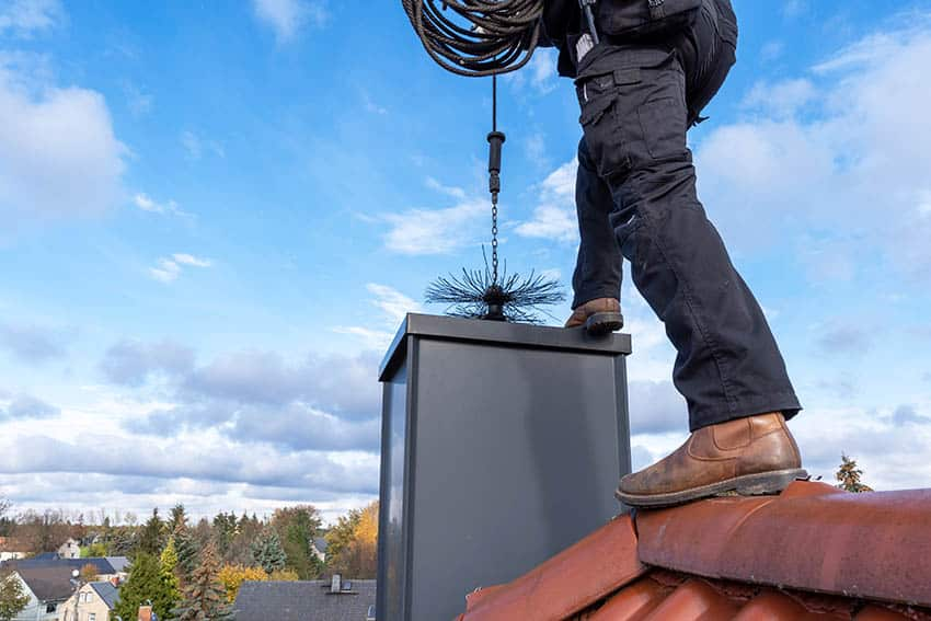 Gas fireplace chimney sweep