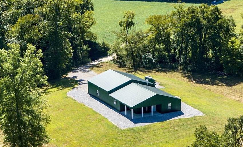 Large pole barn home