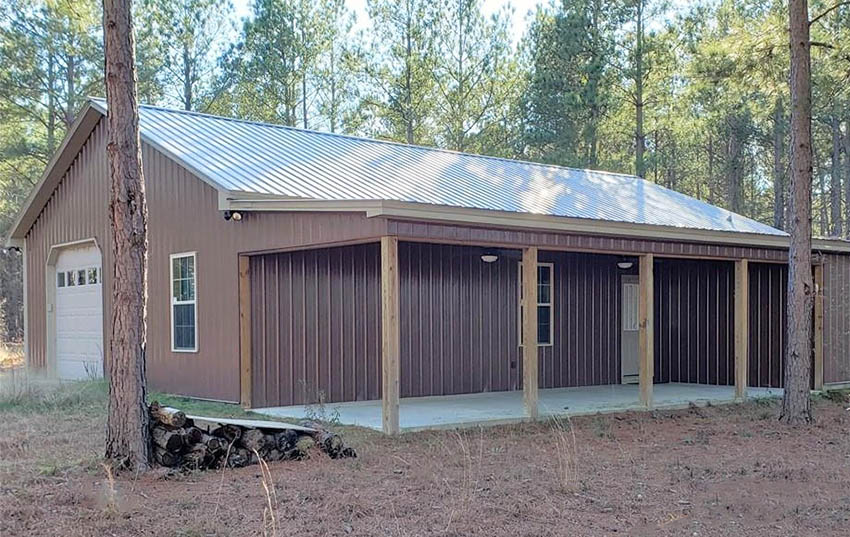 Metal pole barn house design