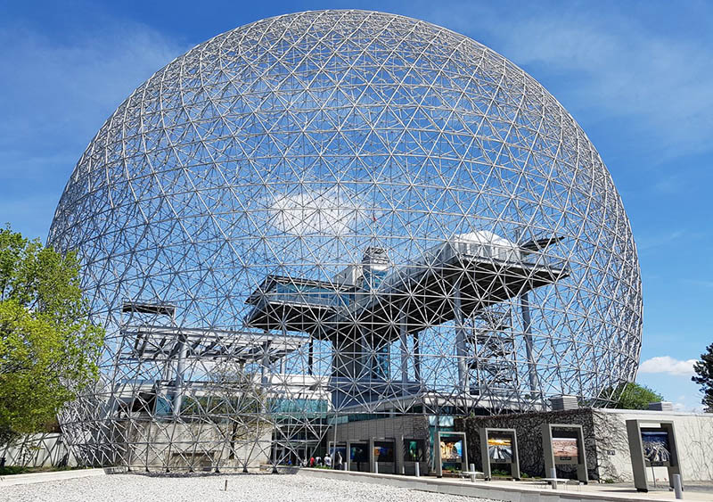 Montreal biosphere geodesic dome
