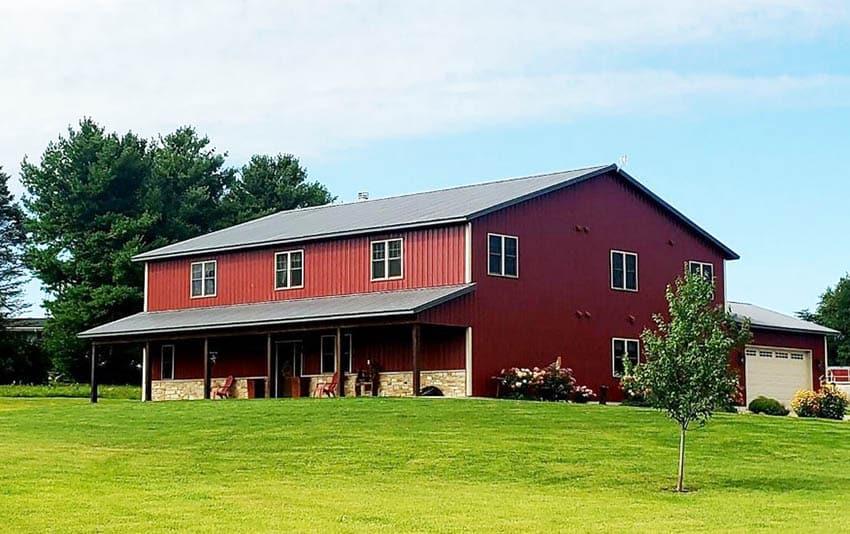Pole barn house design