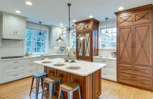 Renovated cape cod style kitchen