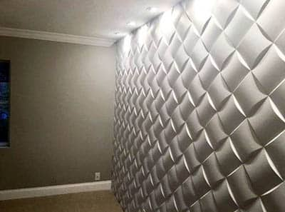 Acoustic wall in home office