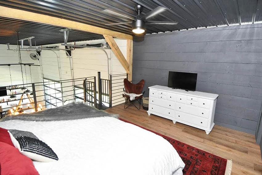 Barndominium loft bedroom