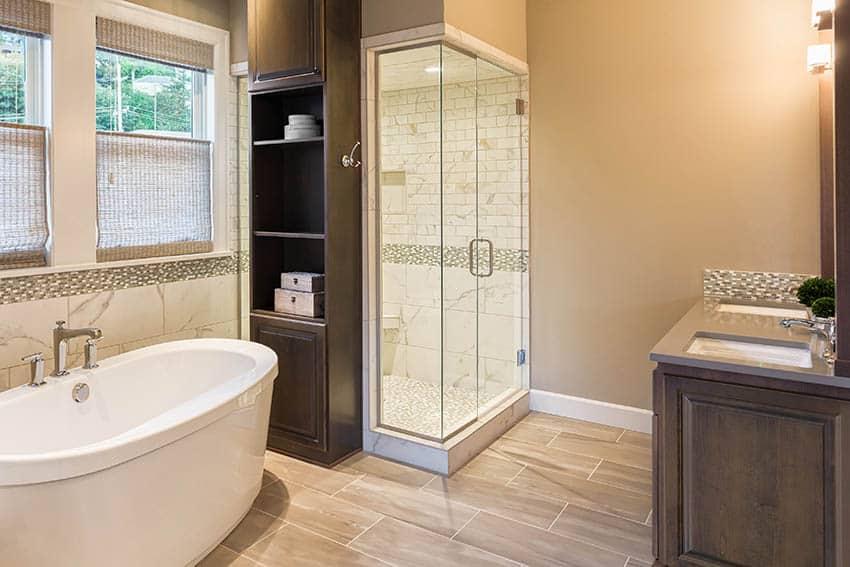 Bathroom Paint Colors with Beige Tile - Designing Idea