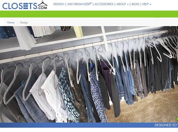 Closets.com custom closet design tool