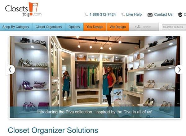 Closets to go design tool