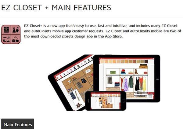 Ezcloset closet design app