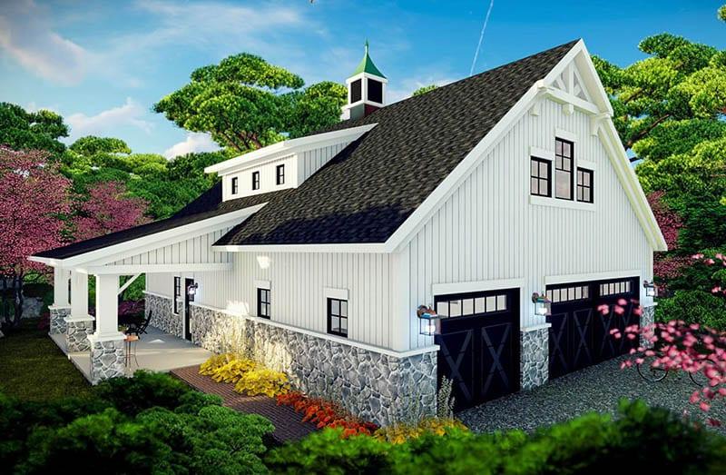 Farmhouse barndominium with 2 bedrooms