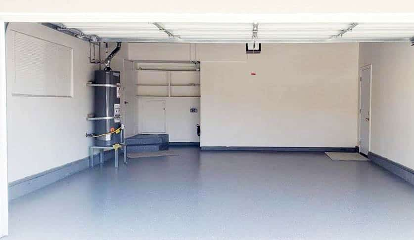 Garage with epoxy floor paint